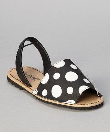 Black Polka Dot Earth Sandal