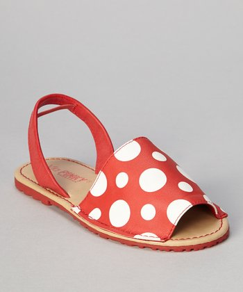 Red Polka Dot Earth Sandal