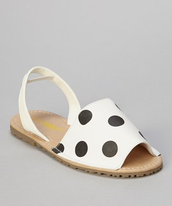 White Polka Dot Earth Sandal