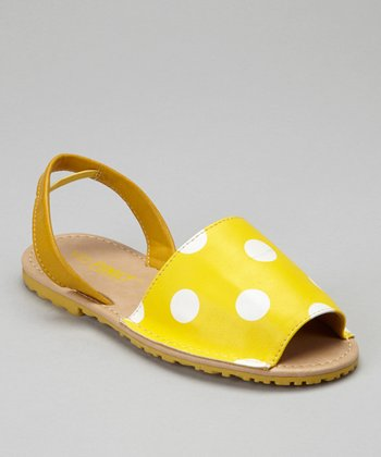 Yellow Polka Dot Earth Sandal