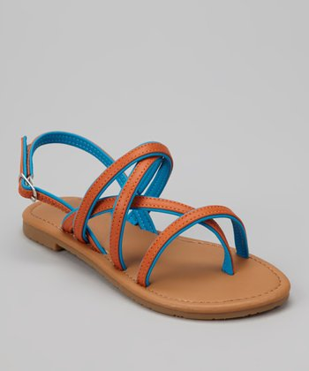 Blue Two-Tone Ellie Sandal
