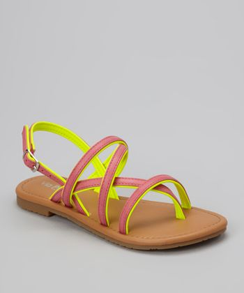 Fuchsia Two-Tone Ellie Sandal