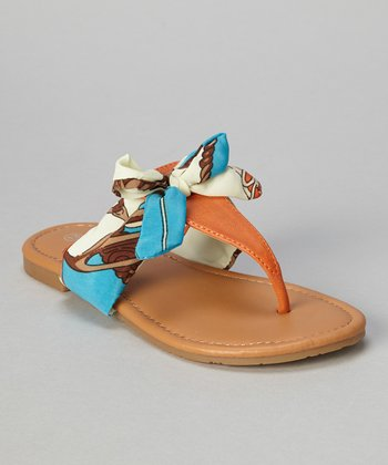 Orange Bow Ellie Sandal
