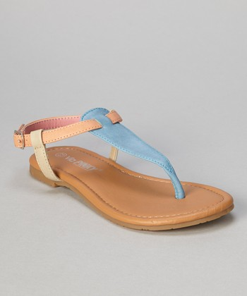Blue Tri-Color Ellie Sandal