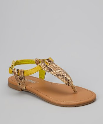 Yellow Snake Ellie Sandal