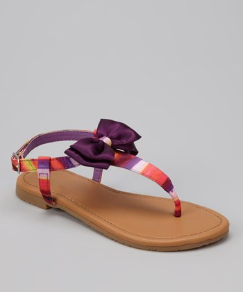 Purple Bow Ellie Sandal