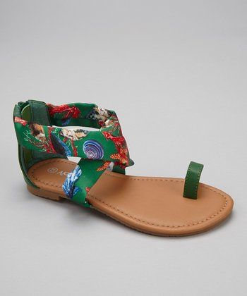 Green Under the Sea Ellie Sandal