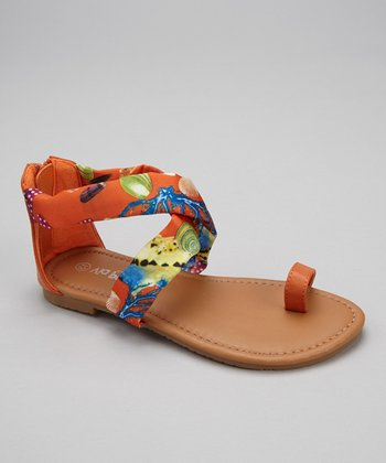 Orange Under the Sea Ellie Sandal