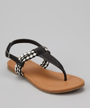 Black Braid Ellie Sandal