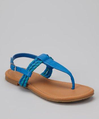 Blue Braid Ellie Sandal