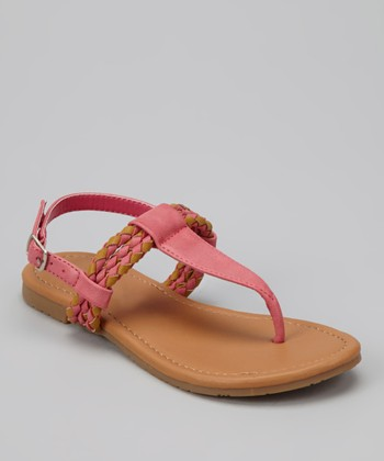 Fuchsia Braid Ellie Sandal