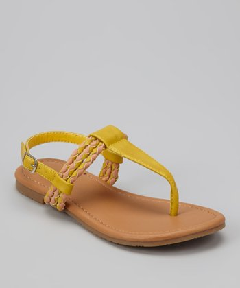 Yellow Braid Ellie Sandal