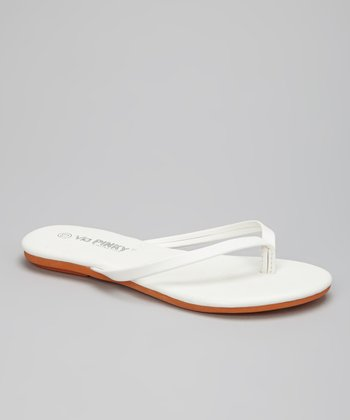 White Color Block Flip-Flop