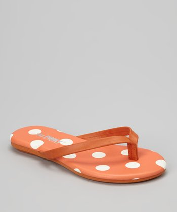Orange Polka Dot Vigo Flip-Flop