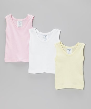 Pink, Yellow & White Tank Set