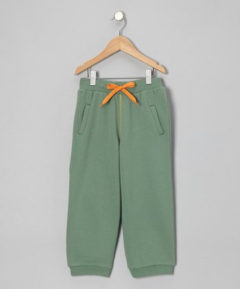 Green Drawstring Sweatpants - Toddler & Boys