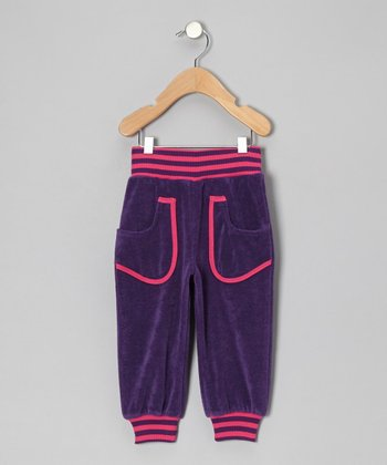 Purple & Pink Stripe Sweatpants - Infant