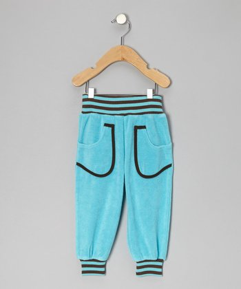 Turquoise Stripe Sweatpants - Infant