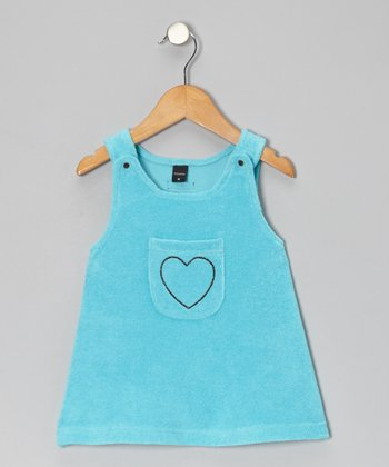 Turquoise Heart Jumper - Infant