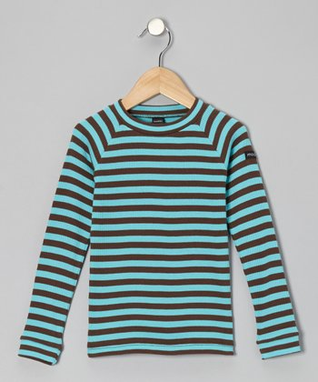 Turquoise Stripe Tee - Toddler & Boys