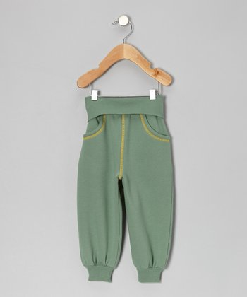 Green Fold-Over Sweatpants - Infant