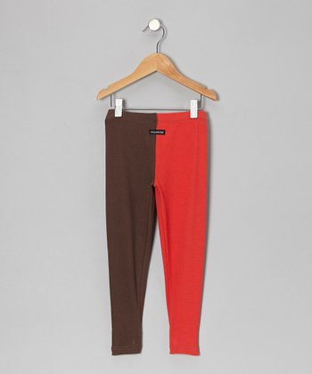 Red & Brown Pants - Toddler & Boys
