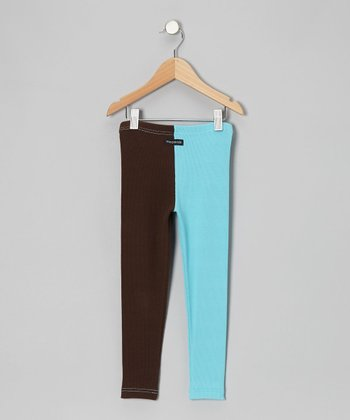 Turquoise & Brown Pants - Toddler & Boys
