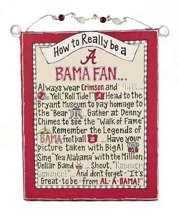 Alabama 'How To' Beaded Canvas