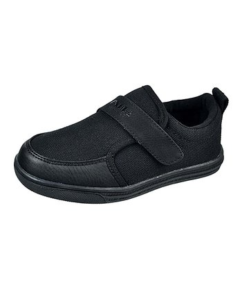 Black Adjustable Slip-On Sneaker