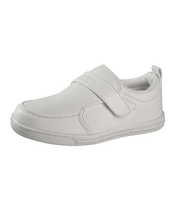 White Adjustable Slip-On Sneaker