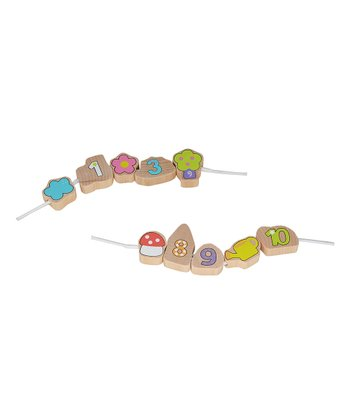 Wooden Garden Bead Threading Set