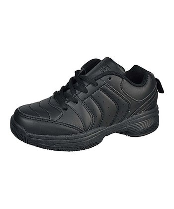 Black Stripe Lace-Up Running Shoe