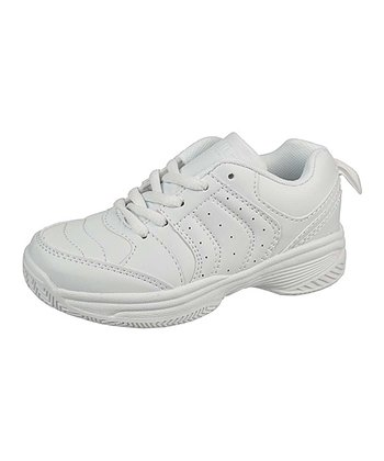 White Stripe Lace-Up Running Shoe