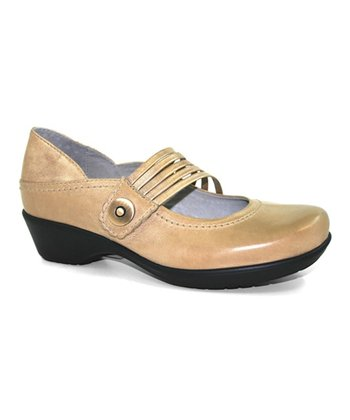 Beige & Platinum Leather Tanya Shoe