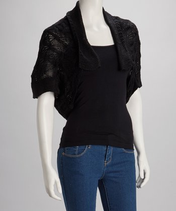 Black Knit Shrug
