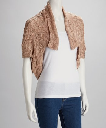 Peach Knit Shrug