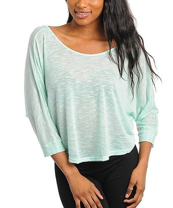 Mint Textured Dolman Top - Women