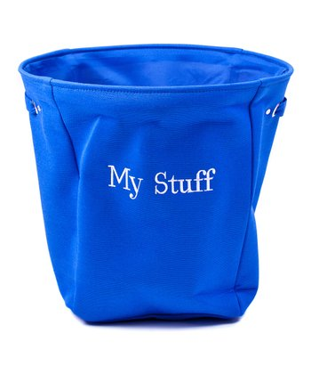 Blue 'My Stuff' Canvas Storage Basket