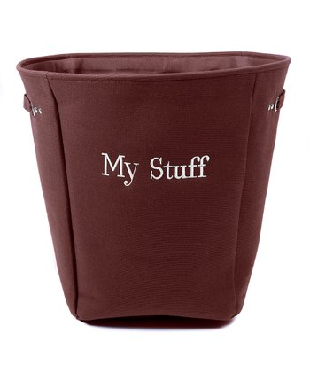 Brown 'My Stuff' Canvas Storage Basket