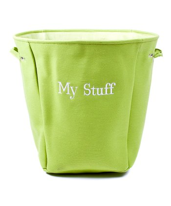 Green 'My Stuff' Canvas Storage Basket