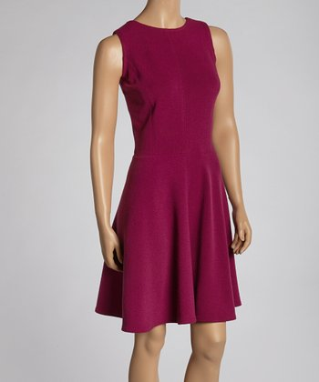 Fuchsia Drop-Waist Dress