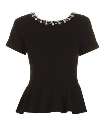 Black Jessica Peplum Top