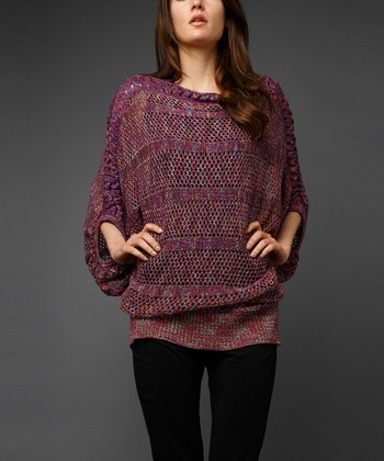 Plum Marled Dolman Sweater