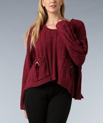 Berry Double-Pocket Sweater