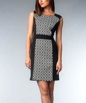 Black & White Geometric Dress