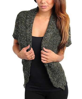 Olive Knit Open Cardigan