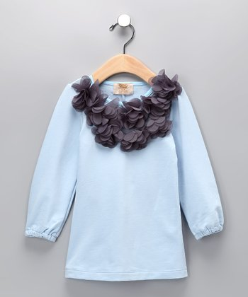 Baby Blue Flower Dress - Toddler & Girls