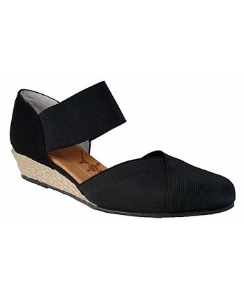 Black Empress Espadrille Wedge