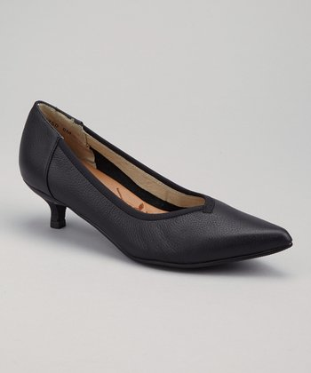 Black Lisbon Kitten Heel