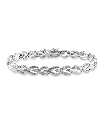 Diamond & Sterling Silver Link Bracelet